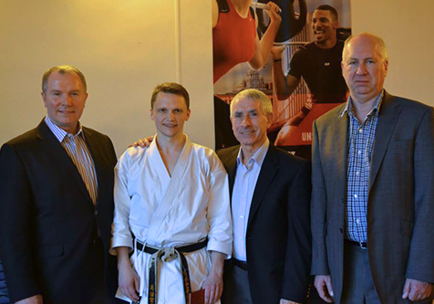 Tim Griffiths with Sensei Sherry