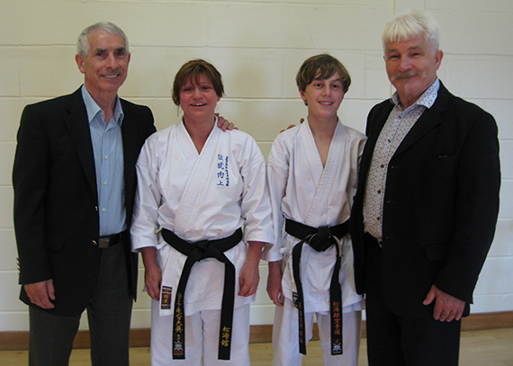 Left to right: Sensei Sherry, Annette Connell, Fergus Puddy, Sensei Rhodes