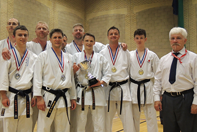 Gold and Silver in Team Kumite