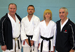 Jim and Aaron after passing their gradings