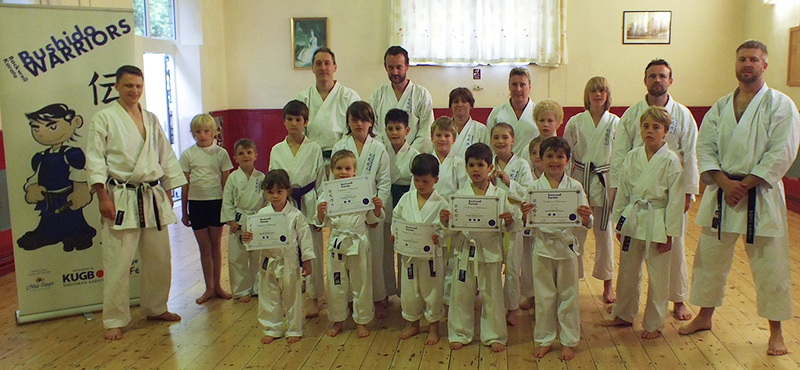 Backwell Karate Bushido Warriors complete summer Karate course