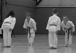 Club members pass coloured belts
